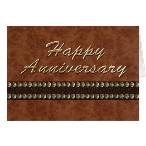 Anniversary - Leather Cards