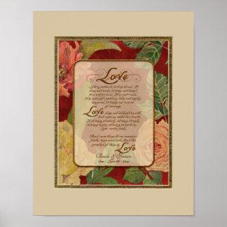 Anniversary, Love Chapter 1 Corinthians 13 Poster