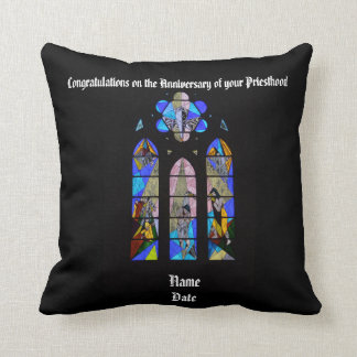 Anniversary of Priest Ordination personalized gift Throw Pillow