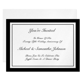 Anniversary Party Classic Invitation Silver