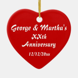 Anniversary Party Favor Christmas Ornament