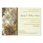 Anniversary Party Invitation Wedding Cake Roses