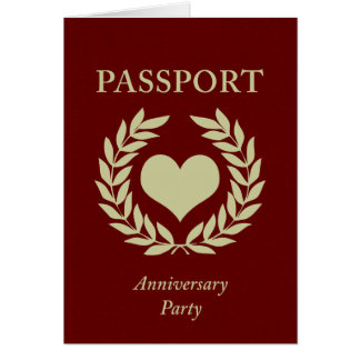anniversary party passport note card