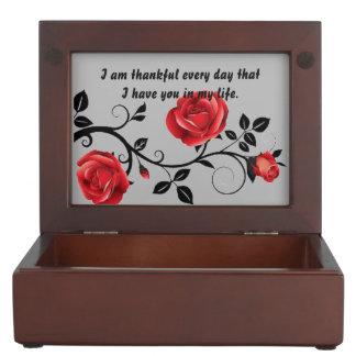 Anniversary Rose Celebration Silver Keepsake Box