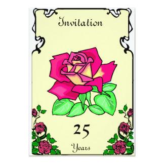 Anniversary - rose - Customizable 5x7 Paper Invitation Card