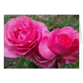Anniversary roses card