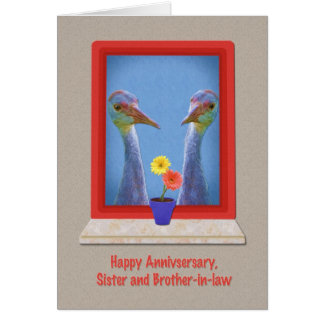 Anniversary, Sister and Brother-in-law,  Birds Card