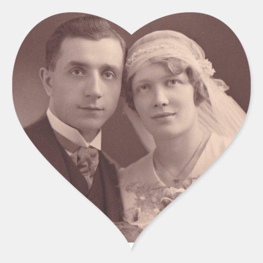 Anniversary Sticker Wedding Photo Heart Stickers