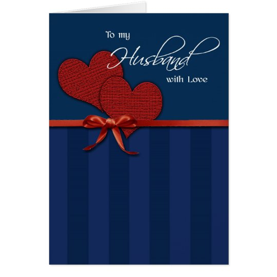 Anniversary - To my husband w/love Card