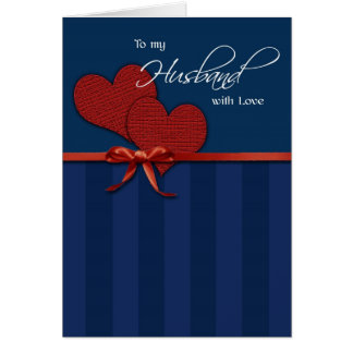 Anniversary - To my husband w/love Greeting Card