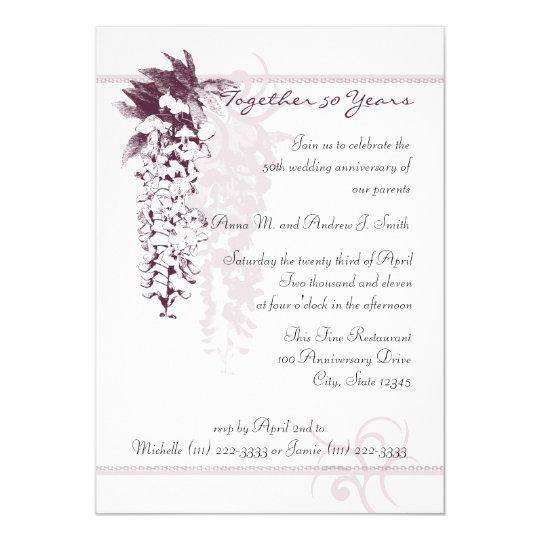 Anniversary Wisteria Card