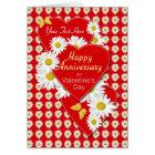 Anniversay on Valentine's Day Daisies Card