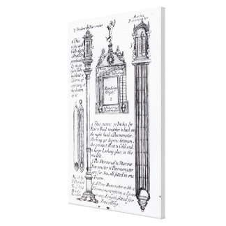 Annotated Illustration of Pendent, Diagonal Canvas Print