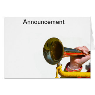 Announcement Card with Trumpet