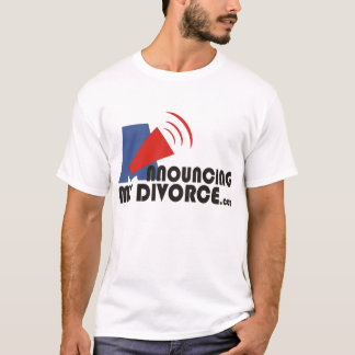 Announcing My Divorce Men's White T-Shirt