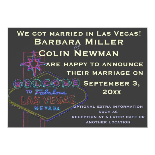 Announcing Our Wedding in Las Vegas Card