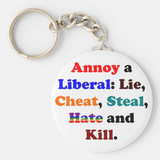 Annoy a Liberal Basic Round Button Key Ring