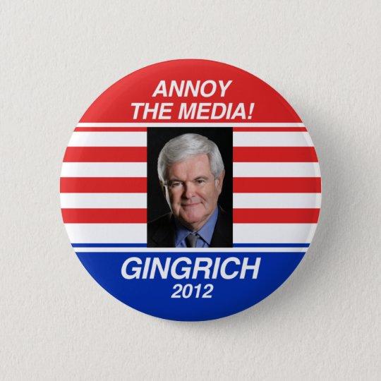 Annoy the Media 6 Cm Round Badge