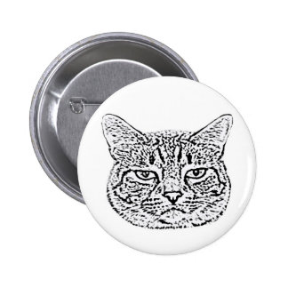 Annoyed Cat Button Buttons