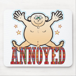 Annoyed Fat Man Mouse Pad