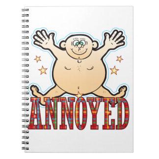 Annoyed Fat Man Spiral Notebook