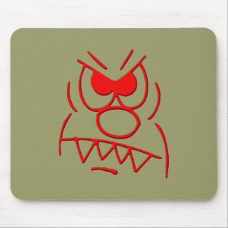 annoyed furious mousepad