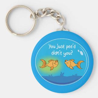Annoyed Goldfish Key Ring