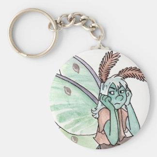 Annoyed Luna Moth Faerie Keychain