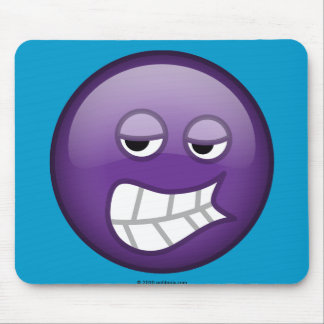 Annoyed Purple Mouse Pad