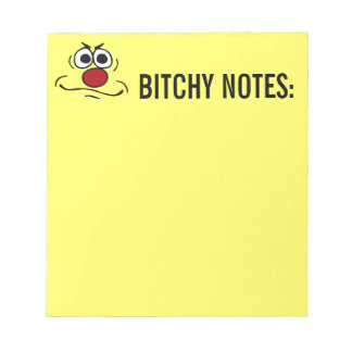 Annoyed Smiley Face Grumpey Notepad