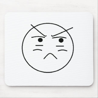 Annoyed Smiley Mousepad