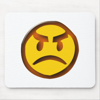 annoyed Smilie angry smiley Mousepads