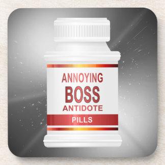 Annoying boss concept. coaster