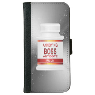 Annoying boss concept. iPhone 6 wallet case