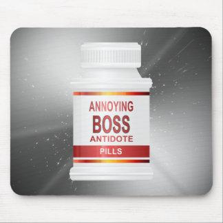 Annoying boss concept. mouse mat