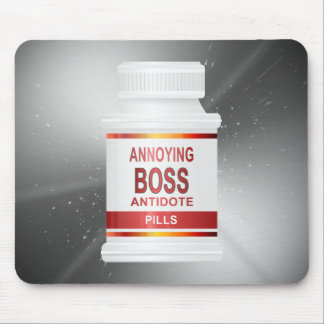 Annoying boss concept. mouse pad