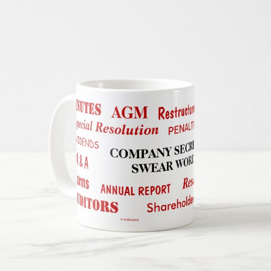 Annoying Funny Company Secretary Swear Words Coffee Mug