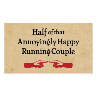 Annoying Running Couple Business Card