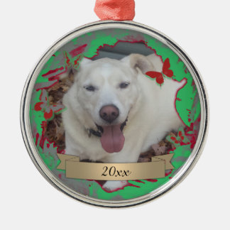 Annual Christmas Ornament w/ Wreath & Butterflies