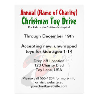 Annual Christmas Toy Drive Santa Claus Charity Flyer Design