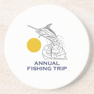 ANNUAL FISHING TRIP DRINK COASTER