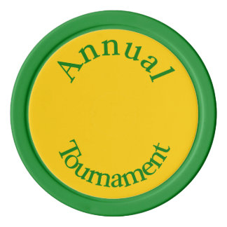 Annual Tournament-Green Poker Chips