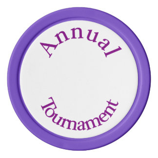Annual Tournament-Purple Poker Chips