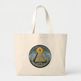 Annuit Coeptis - the All-Seeing Eye Jumbo Tote Bag