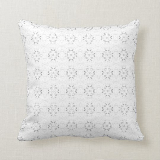 'Annular' Grey and White Pattern Throw Pillow