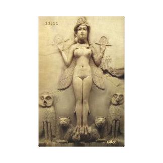 ANNUNAKI CANVAS DMT SPIRITUAL GRAFFITI enlil enki Gallery Wrapped Canvas