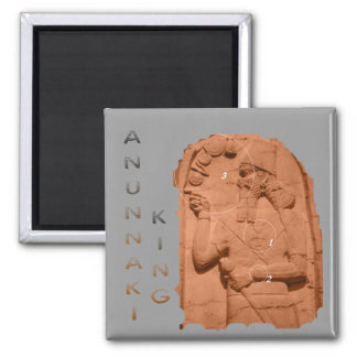 Annunaki King brown Square Magnet