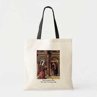 Annunciation Altar By Cossa Francesco Del Tote Bags