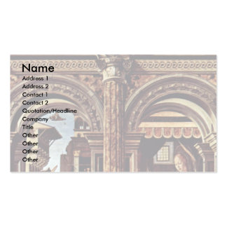 Annunciation Altar By Cossa Francesco Del Double-Sided Standard Business Cards (Pack Of 100)