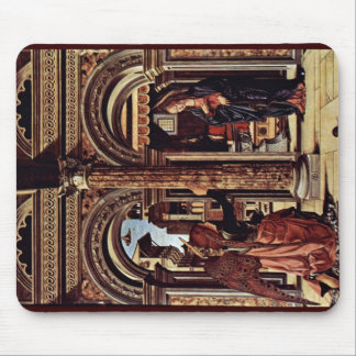 Annunciation Altar By Cossa Francesco Del Mousepads
